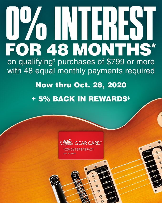 0% interest for 48 months on qualifying purchases of $799 or more with 48 equal monthly payments required. Now thru October 28, 2020. + earn 5% back in rewards.