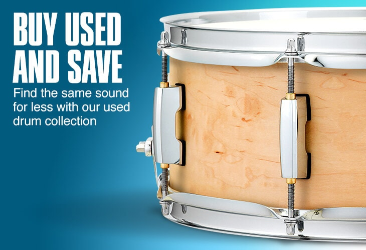 Buy used and save. Find the same sound for less with our used drum collection.