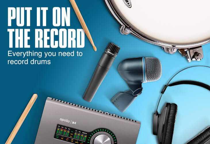 Put it on the record. Everything you need to record drums.
