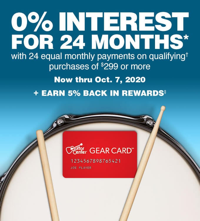 0% interest for 24 months with 24 equal monthly payments on qualifying purchases of $299 or more. Not true October 7, 2020. Earn 5 percent back in rewards.