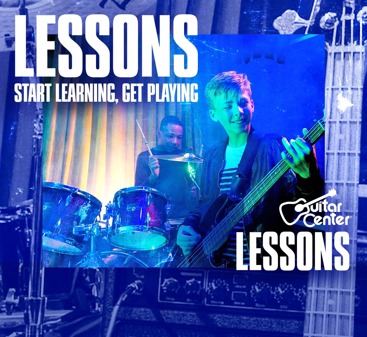 Lessons. Start learning, get playing.Guitar Center Lessons, let's go.