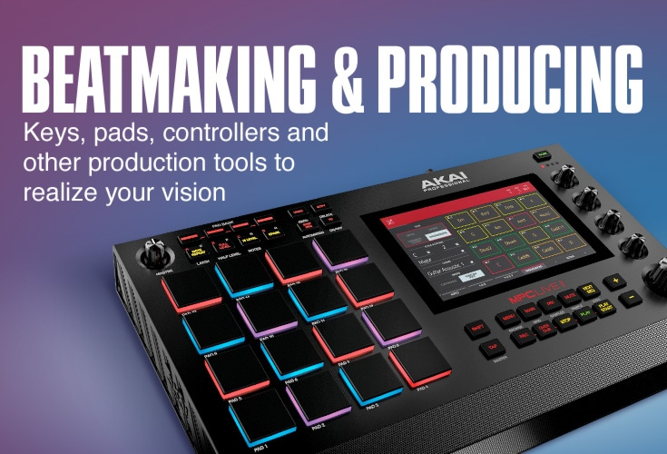 Beatmaking and Producing. Keys, pad, controllers and other production tools to realize your vision.