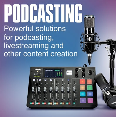 Podcasting. Powerful solutions for podcasting, livesteaming and other content creation.