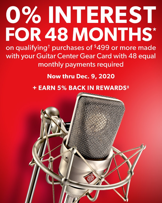 0% interest for 48 months* on qualifying* purchase of $499 or more with 48 equal monthly payments required. Now thru Dec.9, 2020. Plus earn 5% back in rewards.