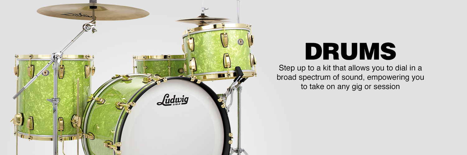 Drums. Step up to a kit that allows you to dial in a broad spectrum of sound, empowering you to take on any gig or session.