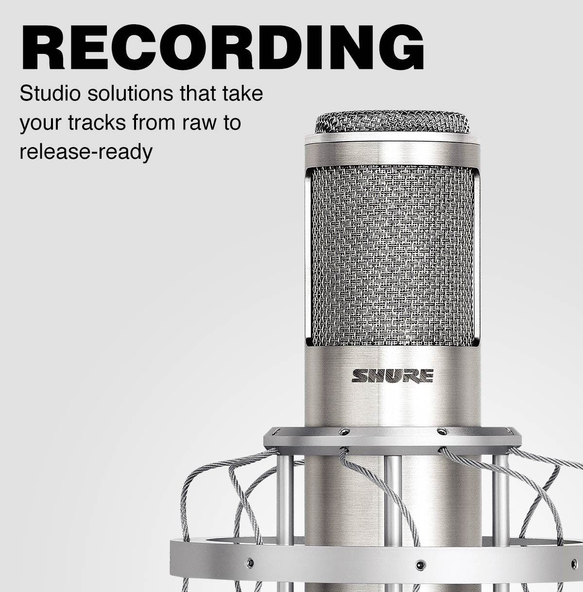Recording. Take your tracks from raw to release-ready with studio solutions that allow you to turn your vision into reality