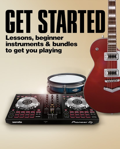 Get Started. Lessons, beginner instruments and bundles to get you playing