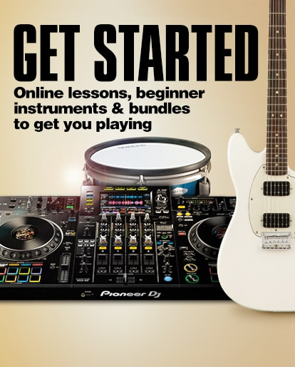 Get Started. Online lessons, beginner instruments, and bundles to get you playing.