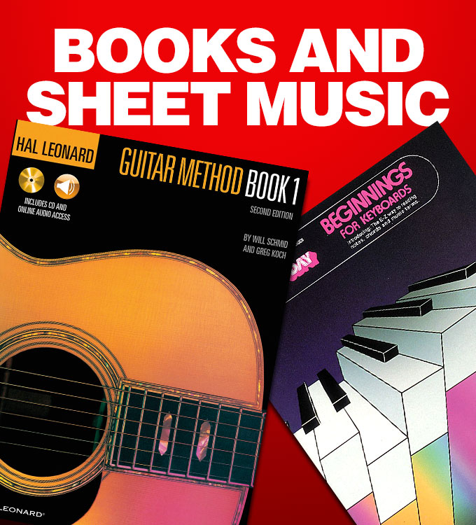 Books and sheet music.