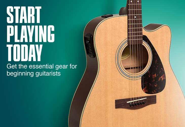 Start playing today. Get the essential gear for beginning guitarists