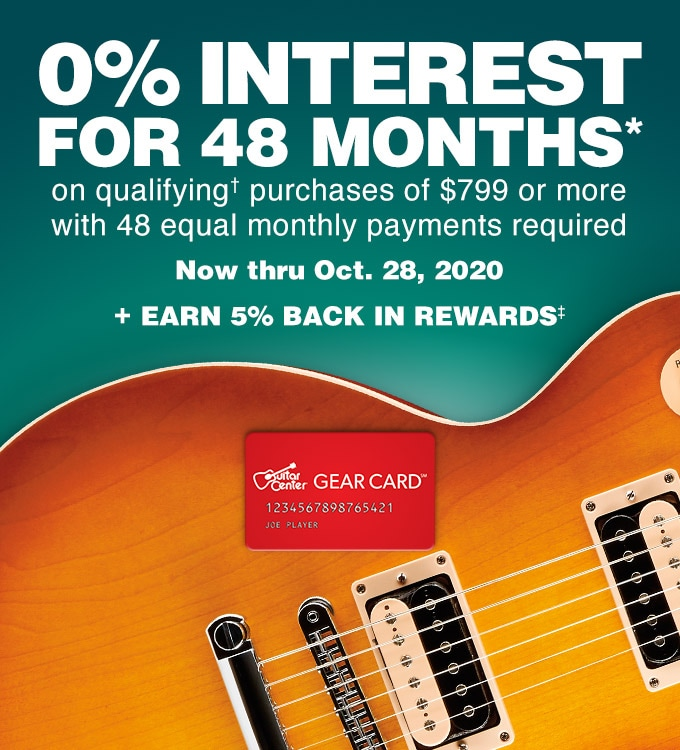 0% interest for 48 months* on qualifying purchase of $799 or more with 48 equal monthly payments required. Now thru Oct. 28, 2020. Plus earn 5% back in rewards.