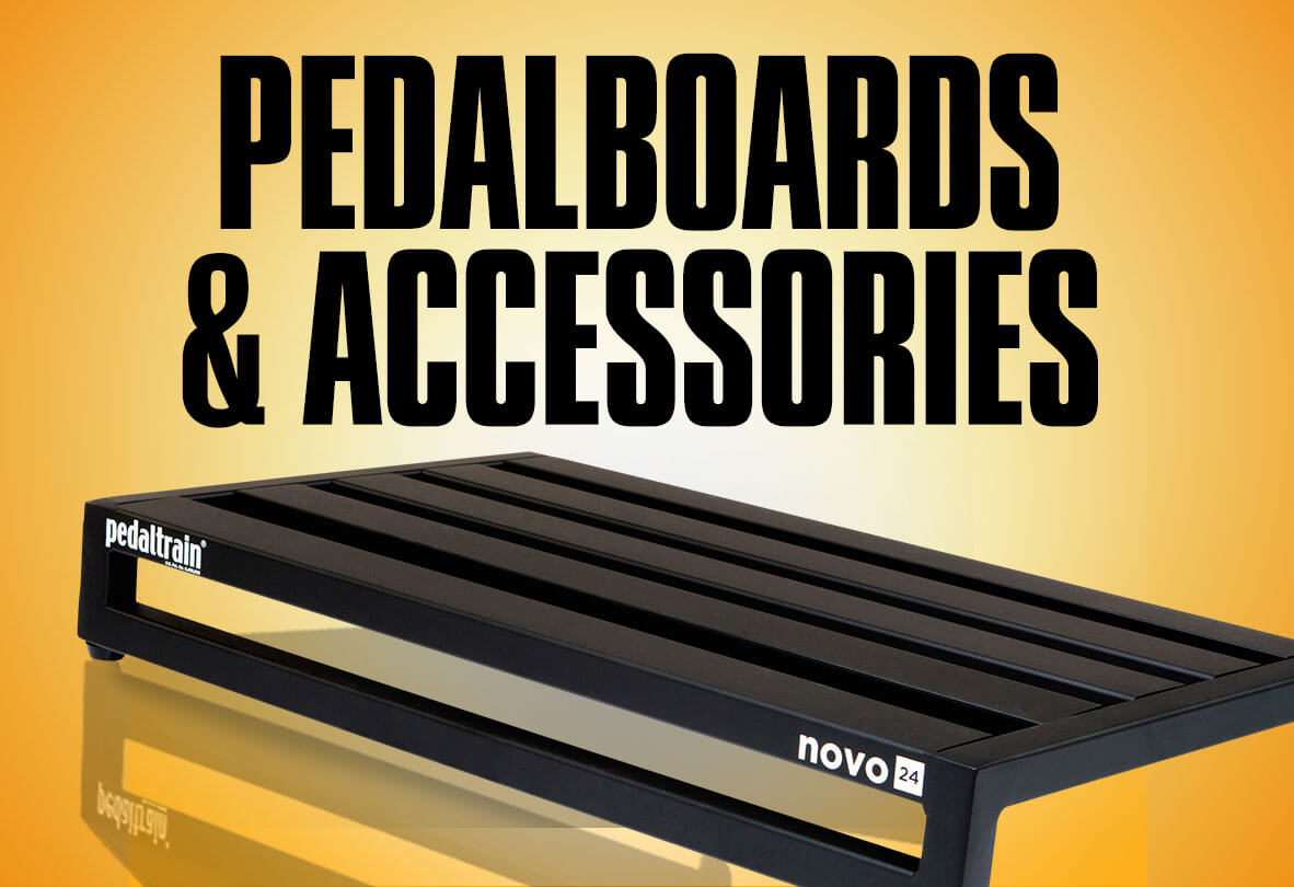 Pedalboards and accessories.