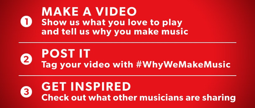 1. Make a video. 2. Post it. 3. Get Inspired.
