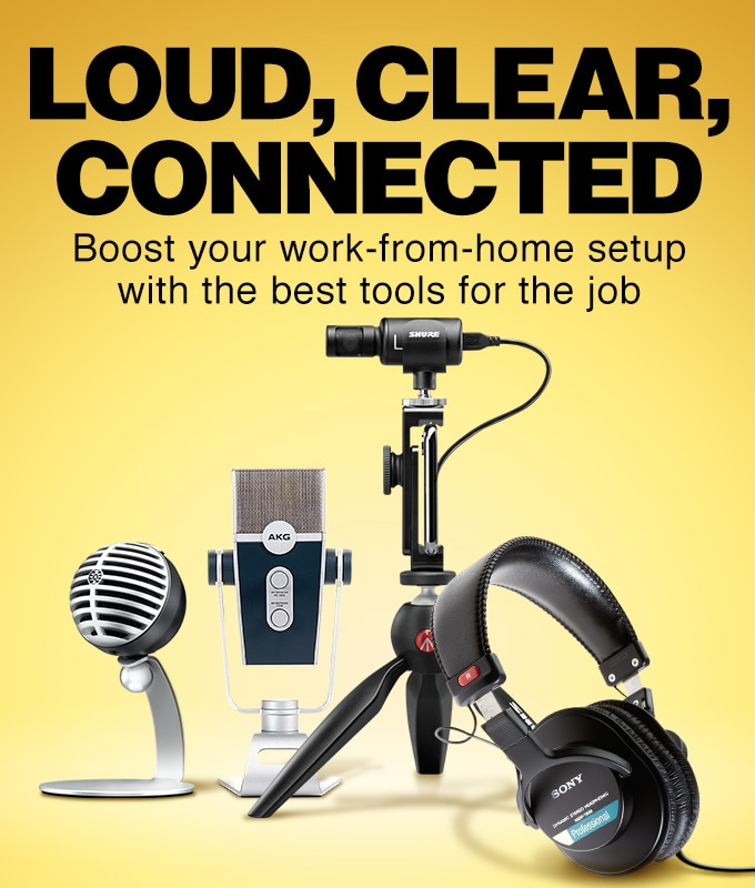 Loud, clear, connected. Boost your work from home setup with the best tools for the job.