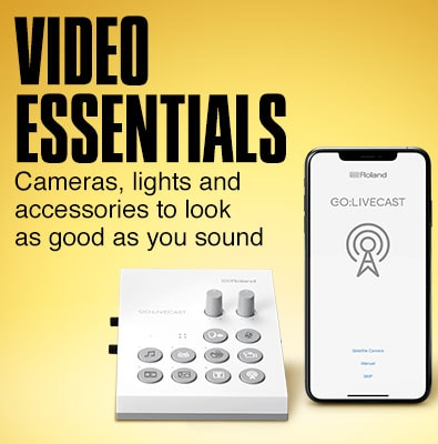 Video essentials. Cameras, lights and accessories to look as good as you should.