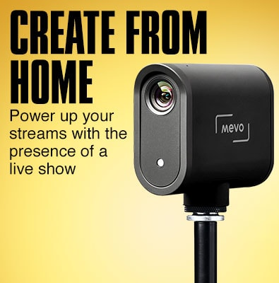 Create from home. Power up your streams with the presence of a live show.