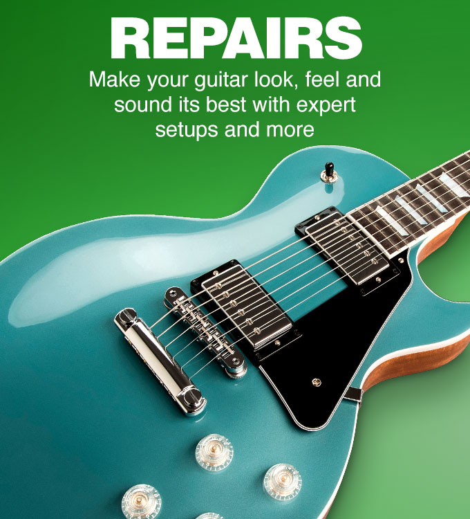 Repairs. Make your guitar look, feel and sound its best with expert setups and more.