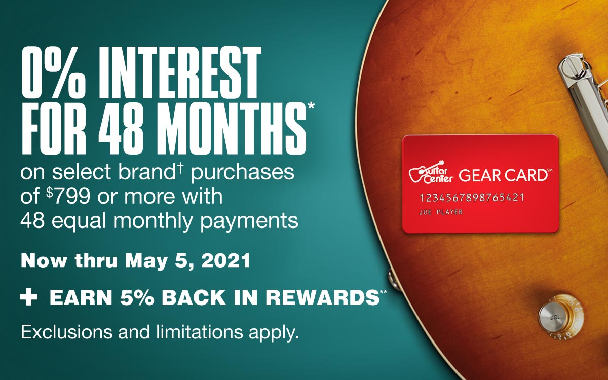 0% interest for 48 months with 48 equal monthly payments on qualifying purchases of 799 dollars or more. Now thru May 5, 2021. + Earn 5% back in rewards.