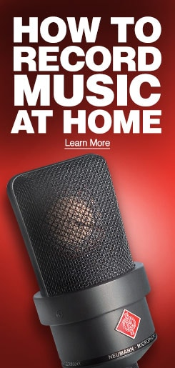 How to record music at home. Learn More.