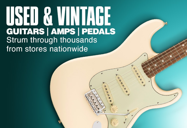Used and Vintage. Guitar, Amps, Pedals. Strum through thousands from stores nationwide.