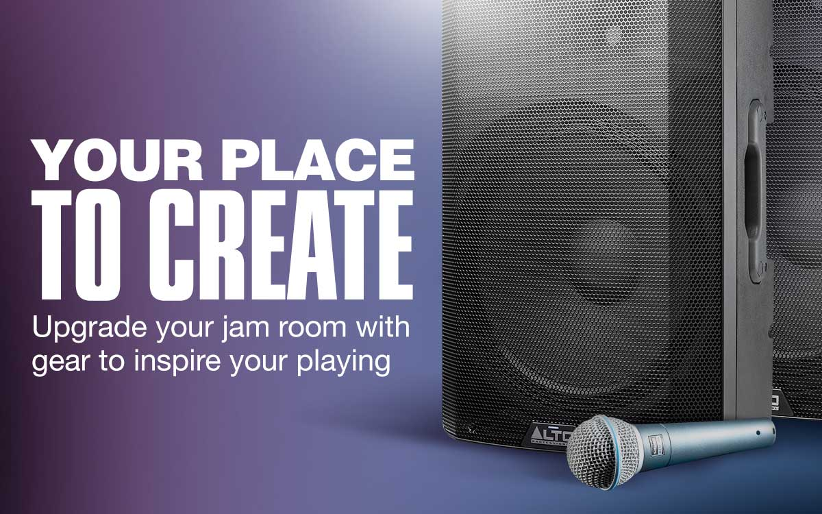 Your place to create. Upgrade your jam room with gear to inspire your playing.