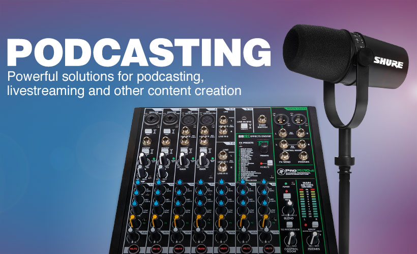 Podcasting. Powerful solutions for podcasting, livestreaming and other content creation