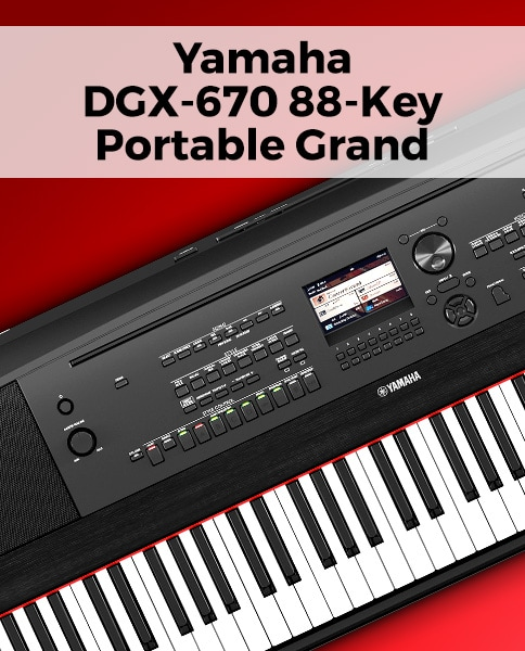 Yamaha DGX-670 88-Key Portable Grand