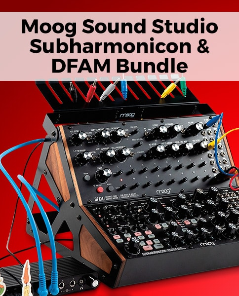 Moog sound studio subharmonicon and DFAM bundle