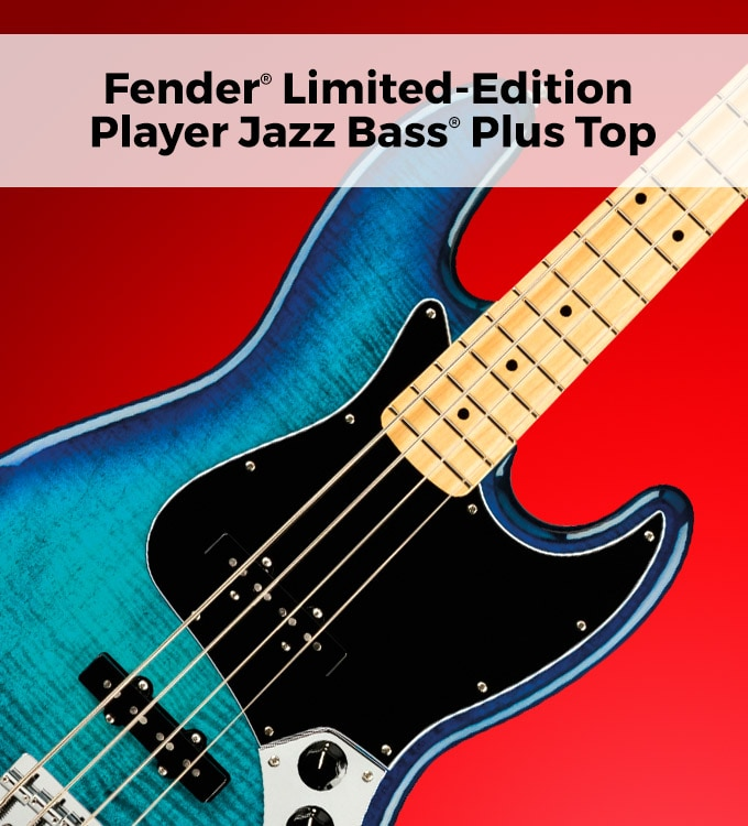 Fender limited-edition player jazz bass plus top