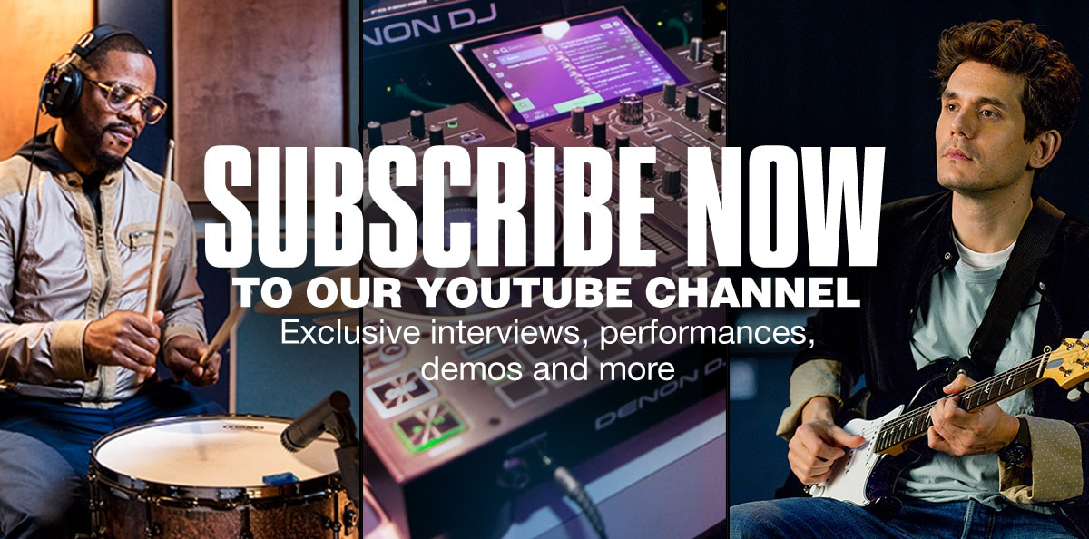 Subscribe now to our Youtube Channel. Exclusive interviews, Performances, demos and more.
