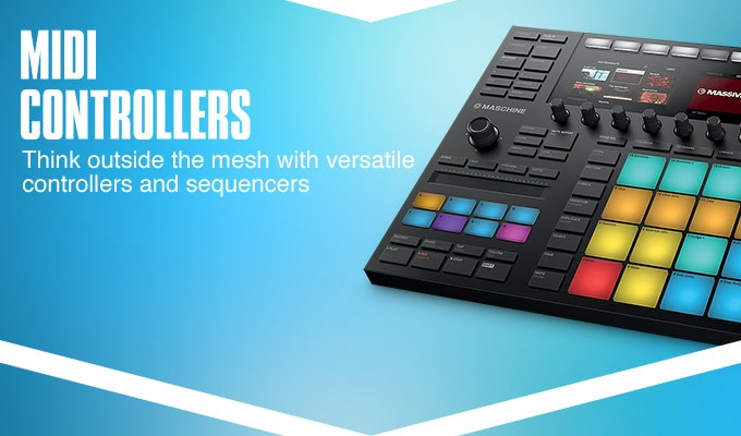 MIDI Controllers. Think outside the mesh with versatile controllers and sequencers.