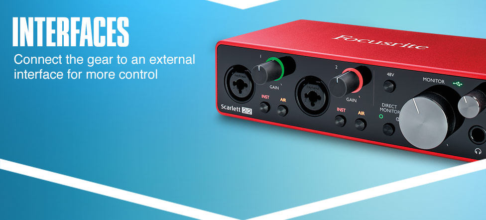 Interfaces. Connect the gear to an external interface for more control.