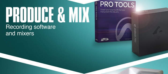 Product and mix. Recording software and production tools.