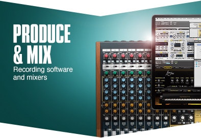 Produce and mix. Recording software and production tools.