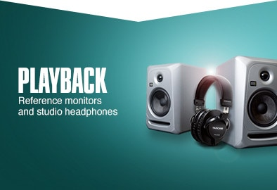 Playback. Referece monitors an studio headphones.