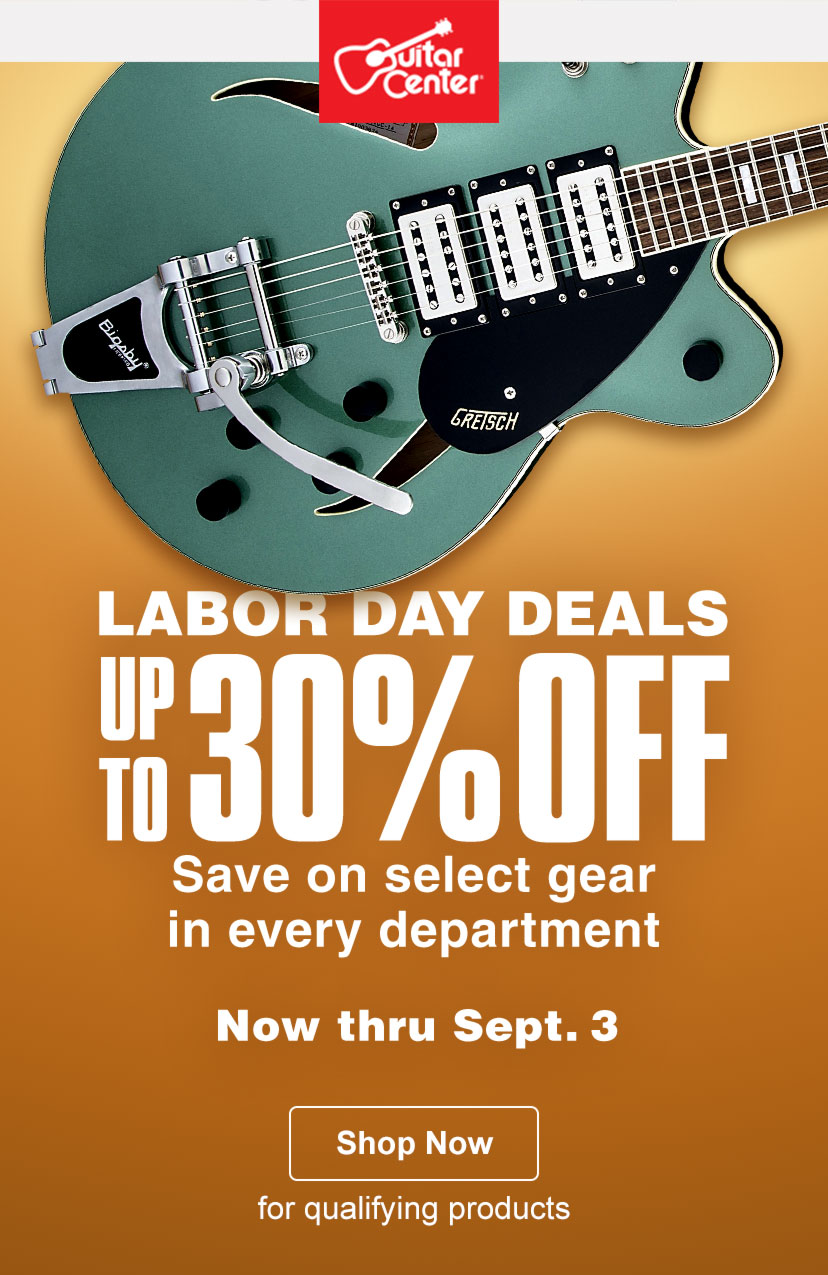 there 39 s still time labor day deals up to 30 off guitar center. Black Bedroom Furniture Sets. Home Design Ideas