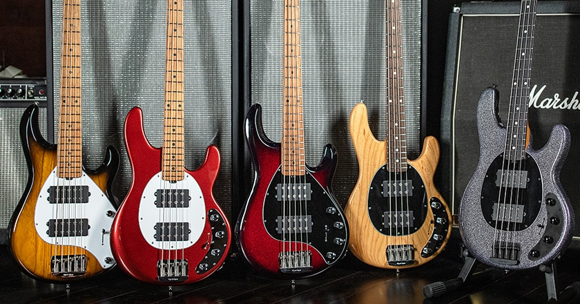 The new Music Man Stingray Special basses