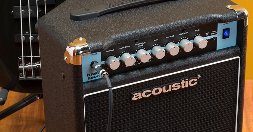The Acoustic B50C bass combo in action