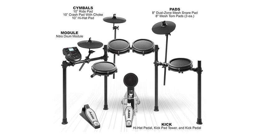 Alesis Nitro Mesh Head Electronic Drum Features