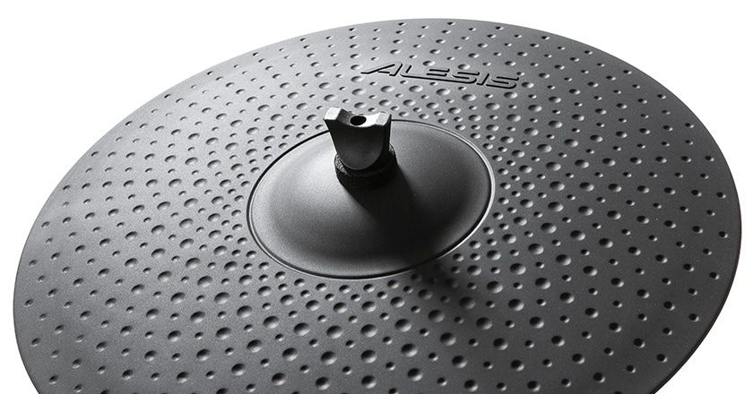 Alesis Strike Pro SE electronic cymbal pad with rubber coating, large bell and cosmetic hammer marks