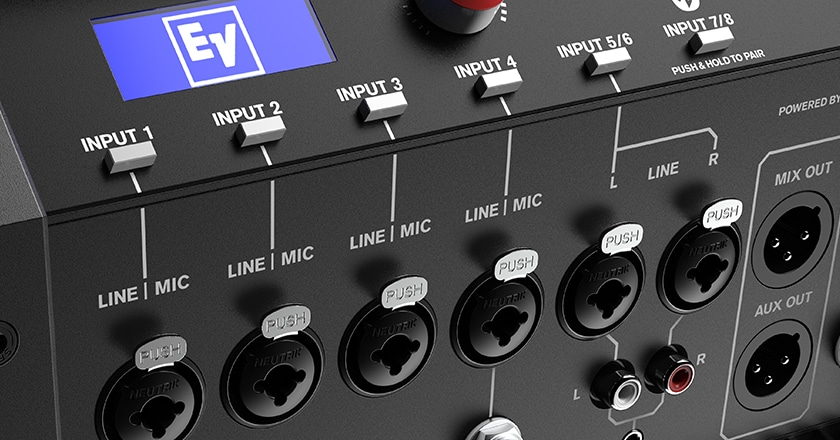 Electro-Voice EVOLVE 30 with 8-channel digital mixer