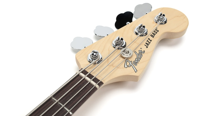 Fender American Performer Jazz Bass headstock and tuners