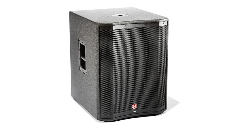 Front offset view of VARI 2300 Series powered subwoofer