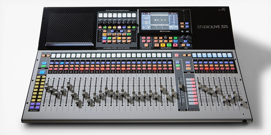 PreSonus StudioLive 32S Digital Mixer Top Down View