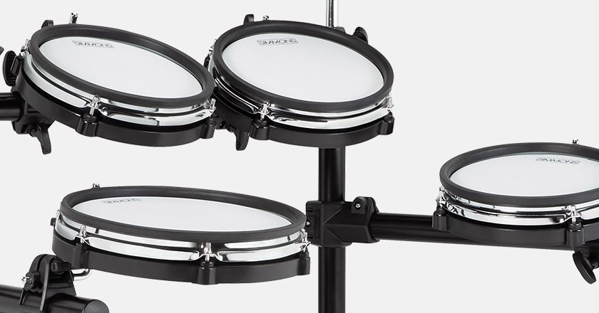 Detailed picture of Simmons SD600 dual-ply, dual-zone mesh electronic drum pads
