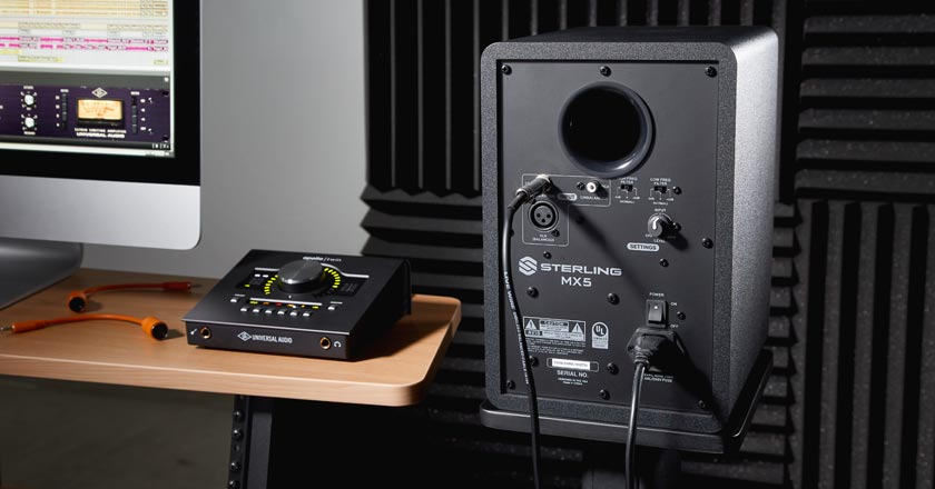 Sterling MX5 Studio Monitor Rear Panel