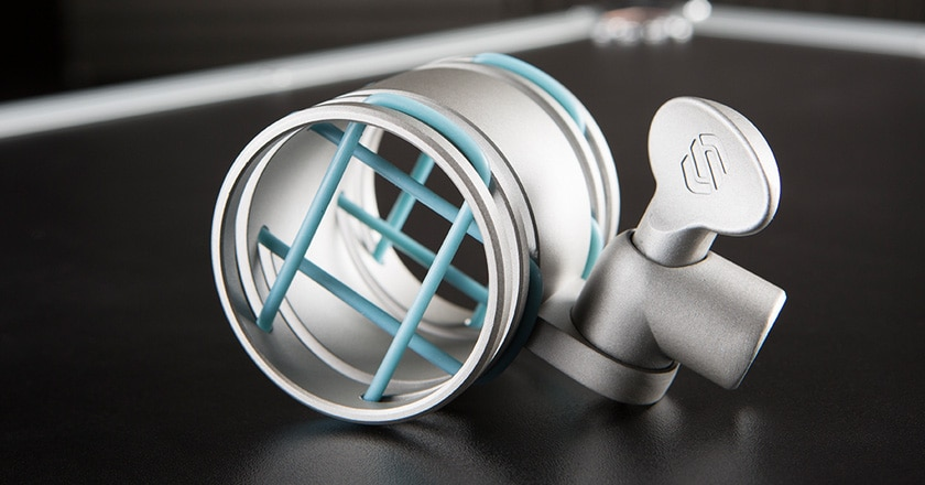 A Close-up Image of the Sterling SM5 Microphone Shockmount