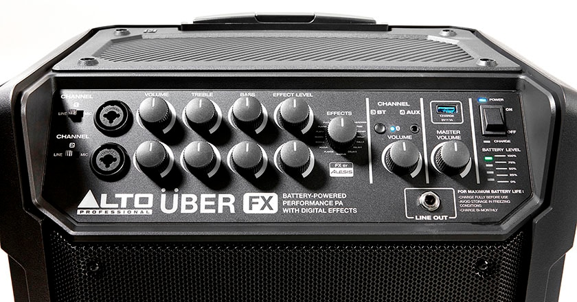 Alto Professional Uber FX portable PA onboard power amplifier