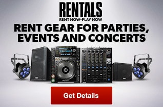 Rent a complete sound system, DJ gear, lighting and more