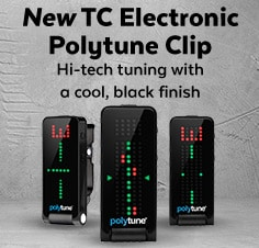TC Electronic Polytune Clipon Guitar Tuner